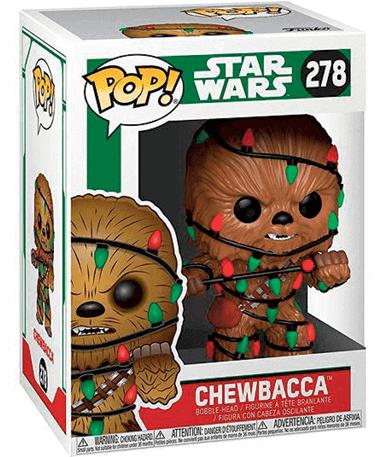 Chewbacca figur med julekostume - Star Wars