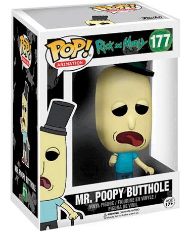 Mr. Poopybutthole figur - Rick And Morty - Funko Pop - I kasse