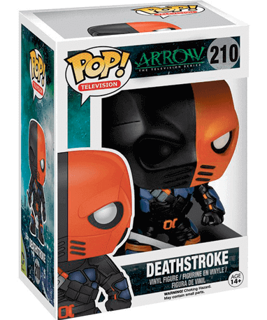 Deathstroke figur - TV Arrow - Funko Pop - i kasse