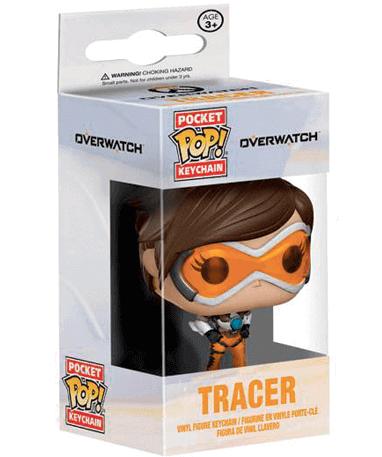 Tracer nøglering - Overwatch - Funko Pop i kasse