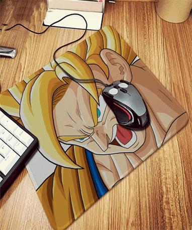 Goku super saiyan musemåtte - Dragon Ball Z - 20x25cm med mus