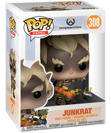 Junkrat figur - Overwatch - Funko Pop - i kasse