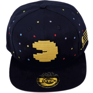 Pac-man cap-kasket forfra