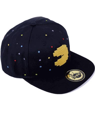 Pac-man cap-kasket fra venstre