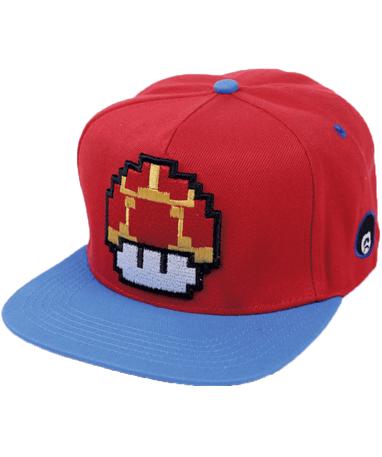 Super Mario mushroom cap-kasket - højre side
