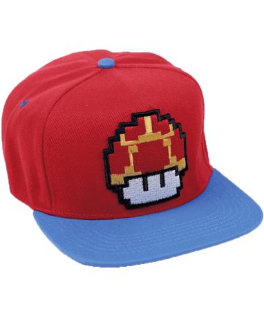 Super Mario mushroom cap-kasket - venstre side