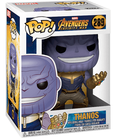 Thanos figur - Avengers Infinity War - Funko Pop - i kasse