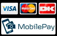 Betalingsløsninger - VISADankort, VISA og Mastercard og Mobilepay