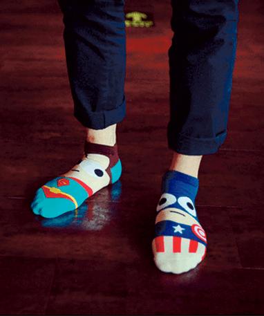 Captain America ankelsokker - Marvel - på fødder