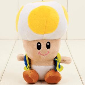 Gul Toad mushroom bamse – Super Mario – 17cm