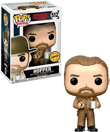 Hopper med donut - Stranger Things - Funko Pop - CHASE