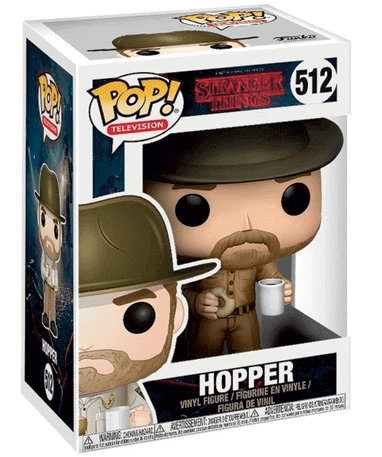 Hopper med donut - Stranger Things - Funko Pop - i kasse