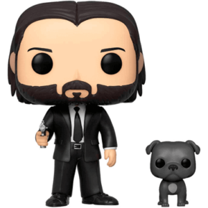 John Wick with dog Funko Pop figur