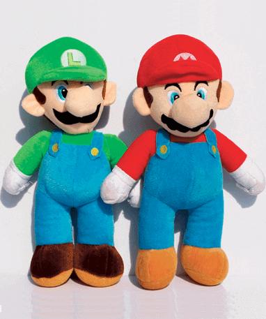 Mario og Luigi bamse - Super Mario - 35 cm