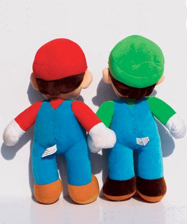 Mario og Luigi bamse - Super Mario - bagfra