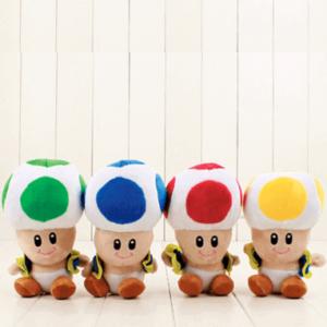 Rød, Gul, Grøn, Blå Toad bamse - 17cm