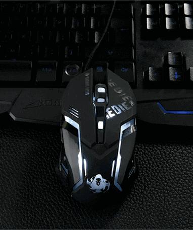 Reaper gamer mus - Overwatch - oppe fra