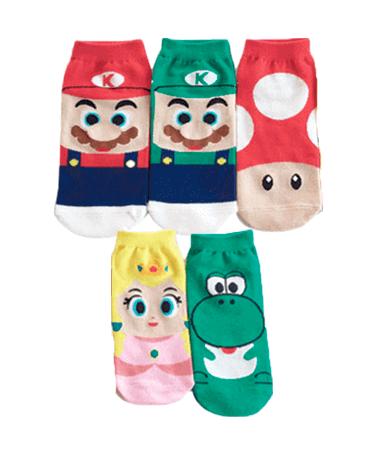 Super Mario ankelsokker - 5 styk