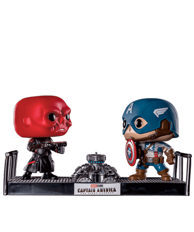 Image of Captain America & Red Skull - Funko Pop - Movie Moments