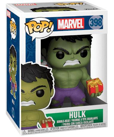Hulk med julesok og gave Funko Pop Figur 2018 - i kasse