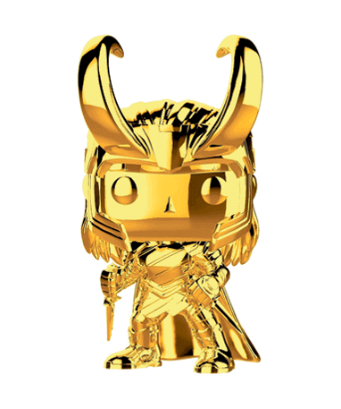 Loki Chrome Funko Pop Figur – Marvel