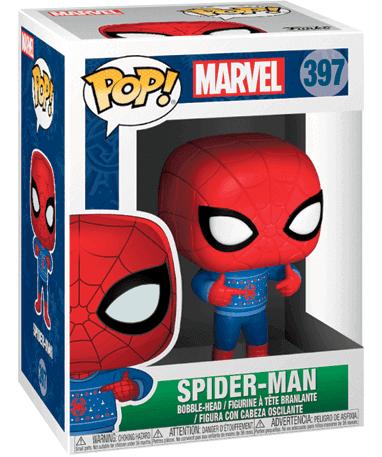 Spiderman med juletøj Funko Pop figur - Marvel 2018 - i kasse