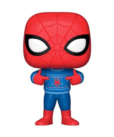 Spiderman med juletøj Funko Pop figur - Marvel 2018