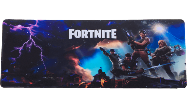 Stor Fortnite gamer musemåtte - 30x80cm - 2018