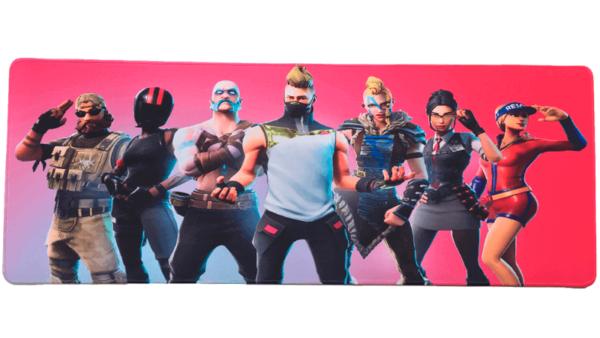 Stor Fortnite gaming musemåtte – 30×80 cm – rød 2018