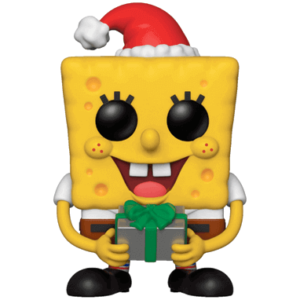Svampebob Firkant med julegave Funko Pop figur 2018