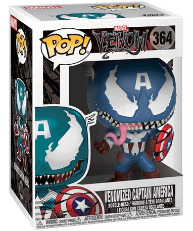 Venom – Captain America funko pop figur – Marvel - i kasse