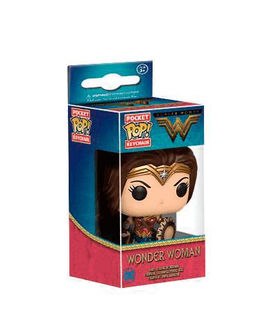 Wonder woman nøglering - Funko Pop - I kasse