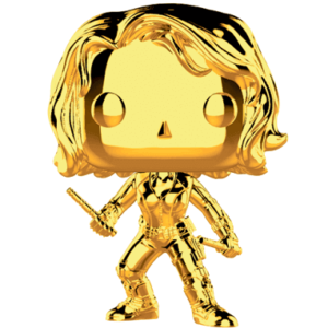 Black Widow Chrome Funko Pop Figur