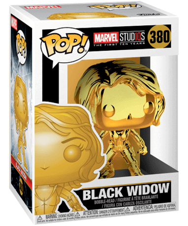 Black Widow Chrome Funko Pop Figur - I kasse