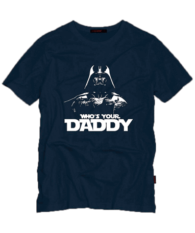 Darth Vader t-shirt mørkeblå - Star Wars - whos your daddy trøje