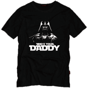 Darth Vader t-shirt sort - Star Wars - whos your daddy trøje