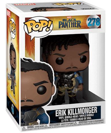 Erik Killmonger Funko Pop Figur - Black Panther - i kasse (1)