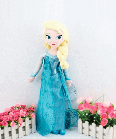 Frozen Elsa bamse - 50 cm - blomster
