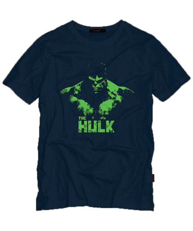 Hulk t-shirt mørkeblå - Marvel