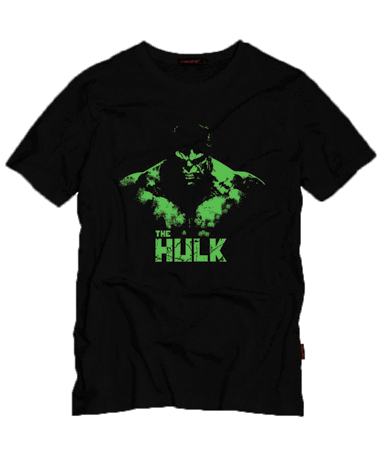 Hulk t-shirt sort - Marvel