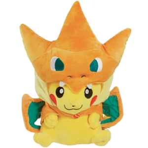 Pikachu bamse - 23cm - Charizard kostume - Pokemon