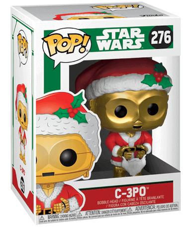 Santa C-3PO Funko Pop figur - i kasse