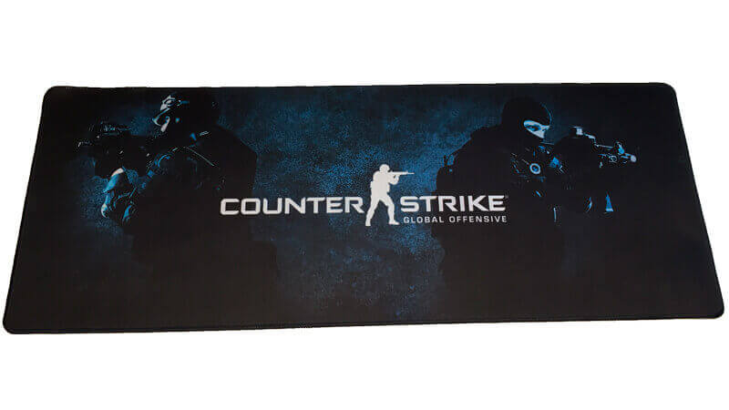 Højmoderne CS:GO gamer musemåtte - 30x80 cm - Counter strike Global Offensive HD-01