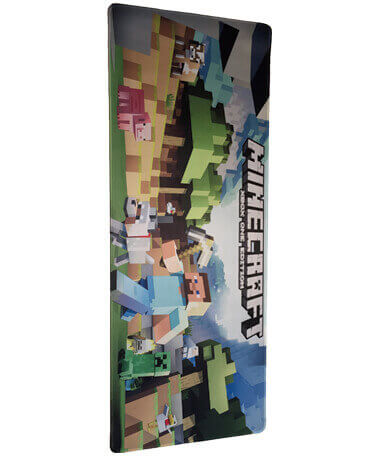 Minecraft Gamer Musemåtte - 30x80 cm - Stor - XXL