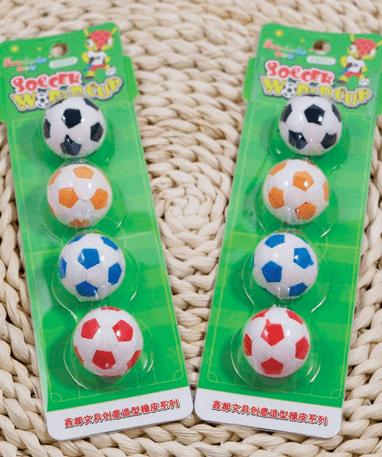 4 Fodbold af viskelæder