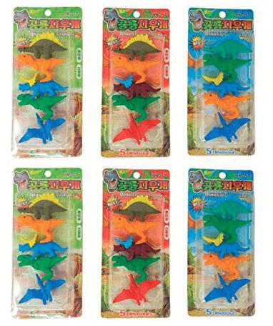 6 Dinosaur viskelæder