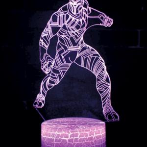 Black Panther 3D Lampe - Lilla