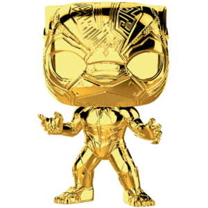 Black Panther Chrome Funko Pop Figur – Marvel