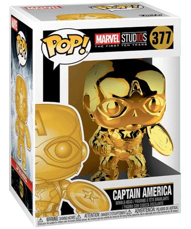 Captain America Chrome Funko Pop Figur - Marvel - I kasse