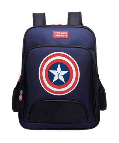 Image of   Captain America skoletaske til børn - Marvel